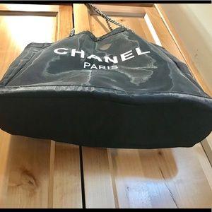 00587b24eef5 CHANEL Bags - Chanel Paris VIP CC Mesh Tote Black 🔷PRICE FIRM🔷
